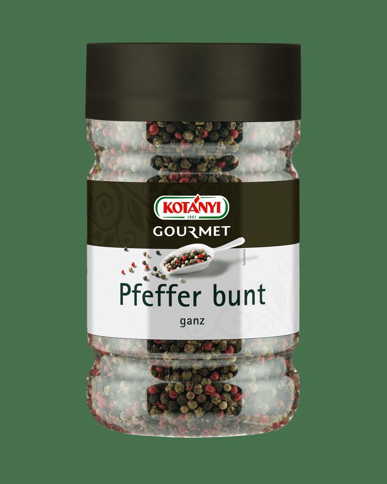 Kotányi Gourmet Pfeffer bunt ganz in der 1200ccm Dose
