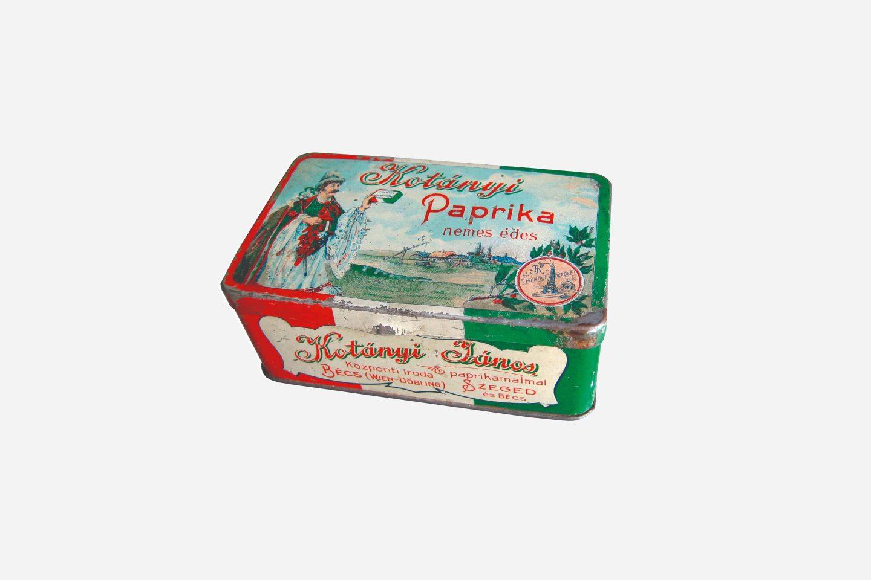 Pakovanje Kotányi mlevene začinske paprike iz 1900. godine
