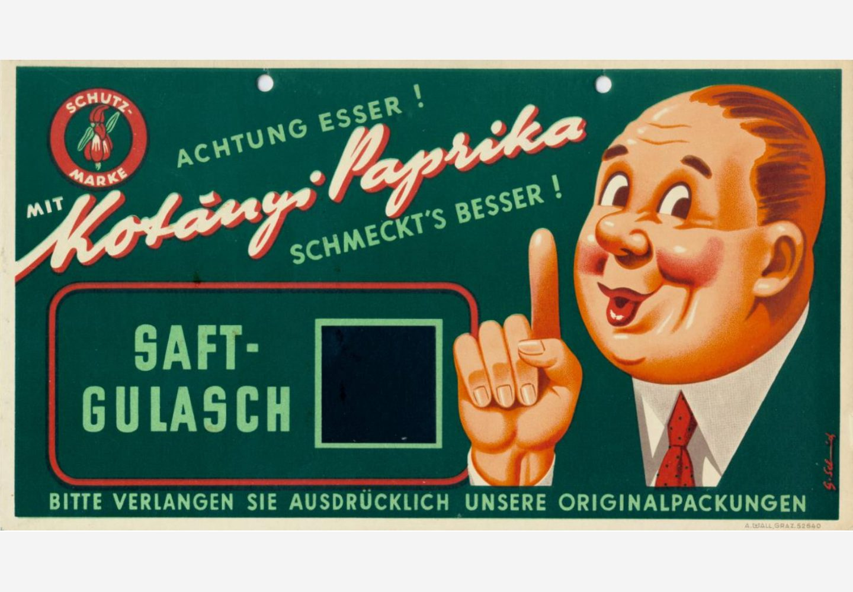 Kotányi reklamni znak iz 50-ih godina XX veka.
