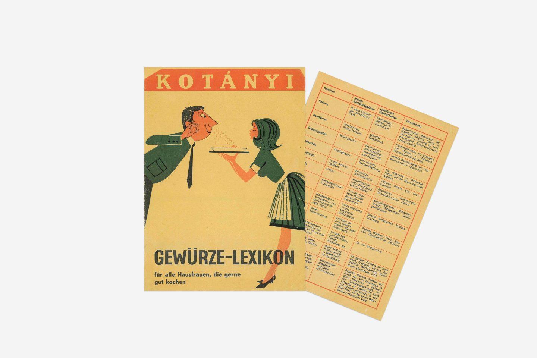 Rečnik Kotányi začina iz 1970. godine