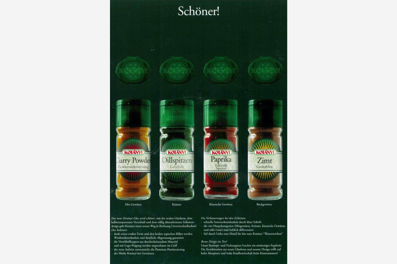 Kotányi reklamni poster iz 2000. godina