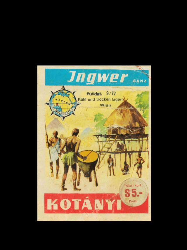 Kesica Kotányi đumbira iz 70-ih godina XX veka.